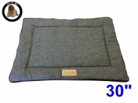Ellie-Bo Medium Duo Reversible Tweed and Black Faux Fur Cage Mat to fit Ellie-Bo 30 inch Dog Cage